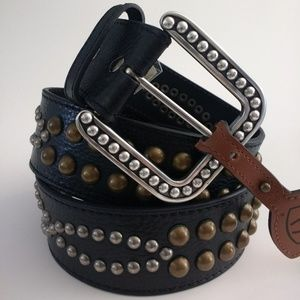 Ariat Studded Black Leather Belt, Size 36